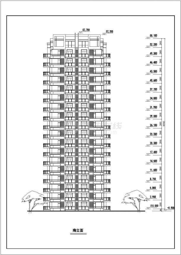 航运新村高层住宅建筑设计01设计全套施工cad图-图二