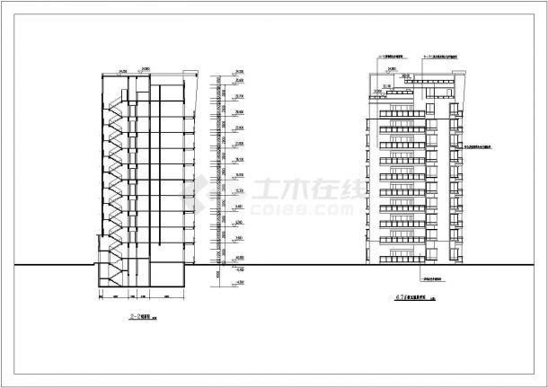 航运新村高层住宅建筑5设计全套施工cad图-图一
