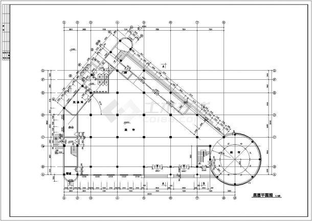 浙江小区会所设计结构建筑设计全套施工cad图-图二