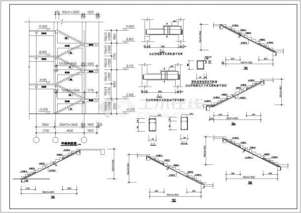 江苏小区会所设计结构建筑设计全套施工cad图-图一