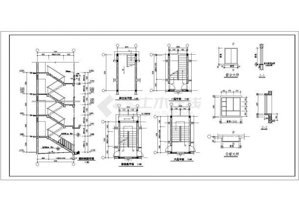 江苏小区2A全套建筑施设计全套施工cad图-图二