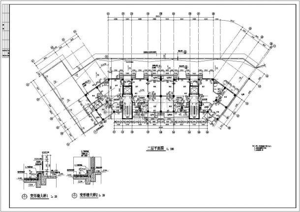 山东住宅小区3.4楼建筑施工设计全套施工cad图-图一