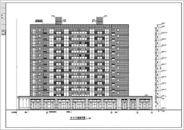 山东住宅小区3.4楼建筑施工设计全套施工cad图-图二