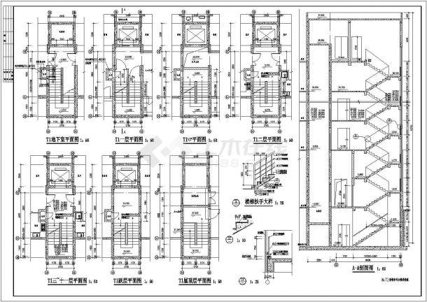 佛山住宅小区3.4楼建筑施工设计全套施工cad图-图一