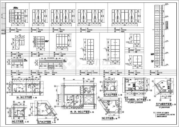 佛山住宅小区3.4楼建筑施工设计全套施工cad图-图二