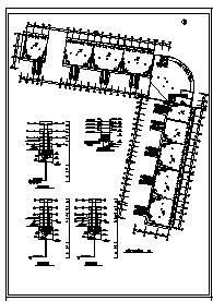 某七层办公楼电气施工cad图(含弱电,消防设计)-图一