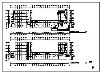 某七层带架空层单位办公楼电气施工cad图(含空调配电设计)-图一