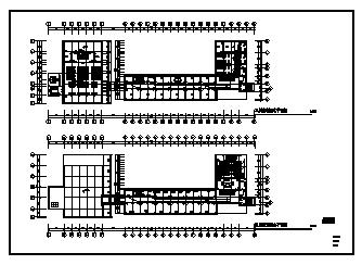 某七层带架空层单位办公楼电气施工cad图(含空调配电设计)-图二
