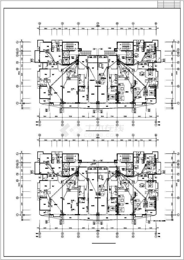某开发区单位建筑电气系统设计施工CAD图纸-图二