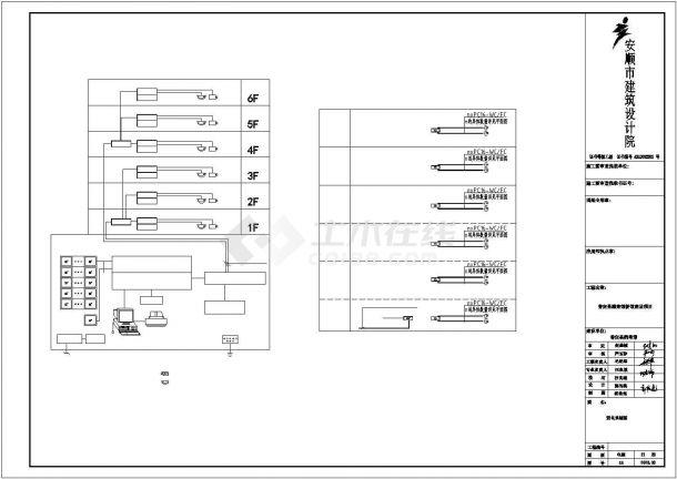 某地区档案馆建筑电气系统设计施工CAD图纸-图一