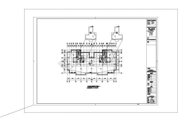 某地区回迁住宅楼电气系统设计施工CAD图纸-图一
