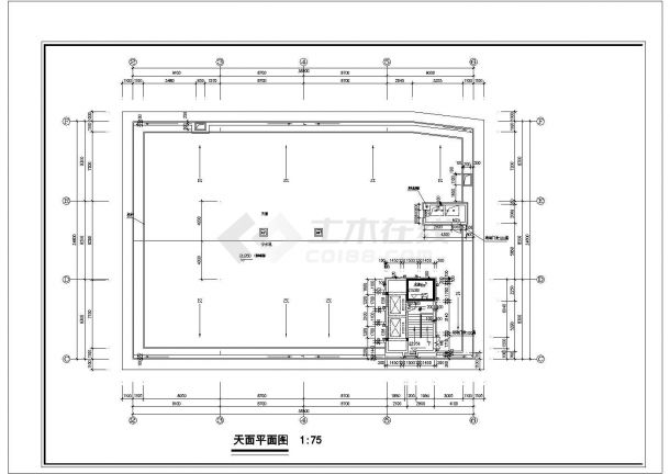 广州市白云西路某7层砖混结构星级酒店全套平面设计CAD图纸-图二