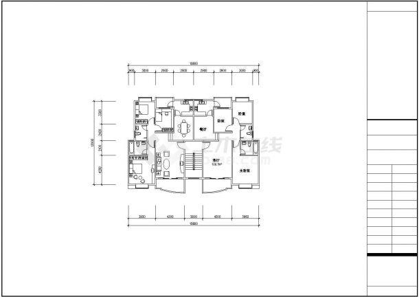 扬州市晨煜花园小区经典热门的平面户型设计CAD图纸(共40张)-图一