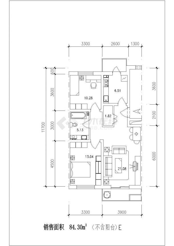 西安市嘉隆明城居住区经典热门的平面户型设计CAD图纸(共14张)-图二