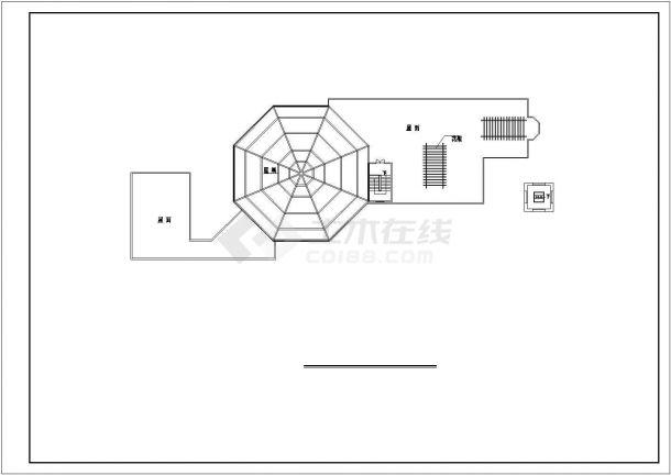 衢州市南馨佳苑小区3层砖混结构业主会所全套建筑设计CAD图纸-图一