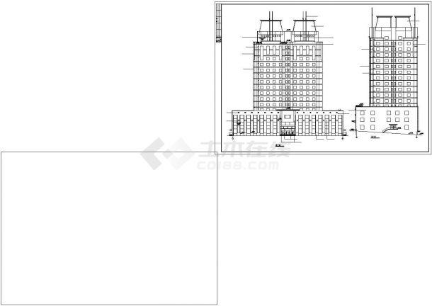 大连市某街道16层框混结构商住楼建筑设计CAD图纸(1-4层商用/含地下室)-图一