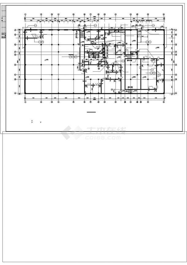 大连市某街道16层框混结构商住楼建筑设计CAD图纸(1-4层商用/含地下室)-图二