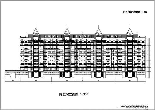 长沙市泰和苑小区9层框架结构组合住宅楼建筑设计CAD图纸(第9层复式)-图一