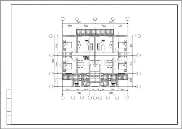 苏州市干将路某小区6层砖混住宅楼平立面设计CAD图纸(含跃层/4套方案)-图一
