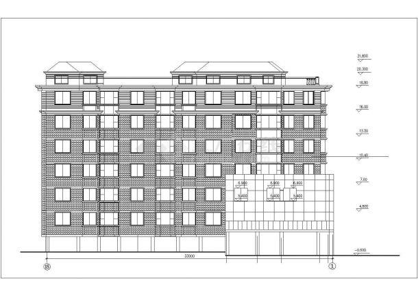 长春市采莲新村某6层砖混结构住宅楼建筑设计CAD图纸(含阁楼)-图一
