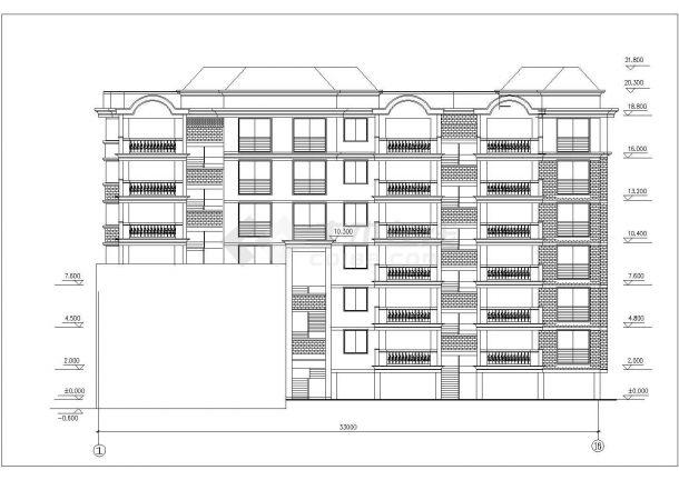 长春市采莲新村某6层砖混结构住宅楼建筑设计CAD图纸(含阁楼)-图二