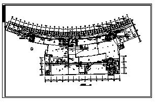 某三层商业办公综合电气施工cad图(含照明,弱电设计)-图一