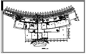某三层商业办公综合电气施工cad图(含照明,弱电设计)-图二