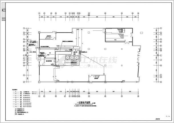 电气设计_某十五层商住楼电气设计CAD图-图一