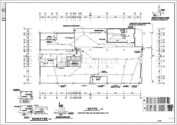电气设计_某十五层商住楼电气设计CAD图-图二