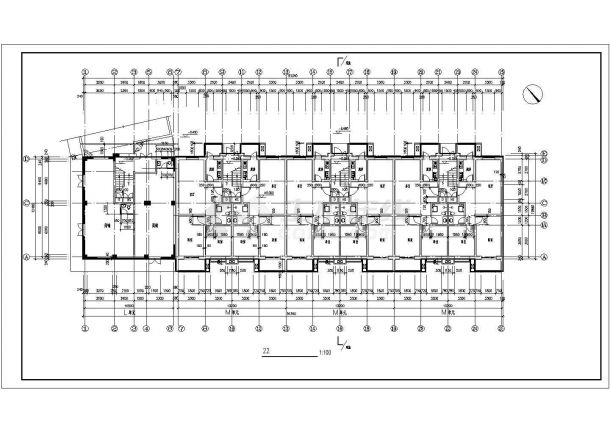 西安彩虹花园小区4520+4230平两栋6层砖混结构住宅楼平面设计CAD图纸-图一