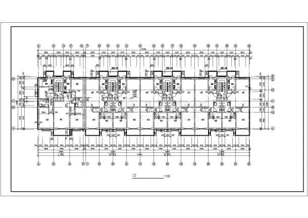 西安彩虹花园小区4520+4230平两栋6层砖混结构住宅楼平面设计CAD图纸-图二