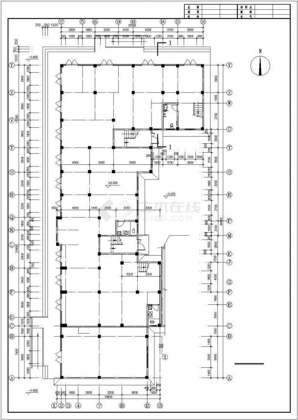 西安市文化公园小区6层框架结构住宅楼平面设计CAD图纸(6层为复式)-图二