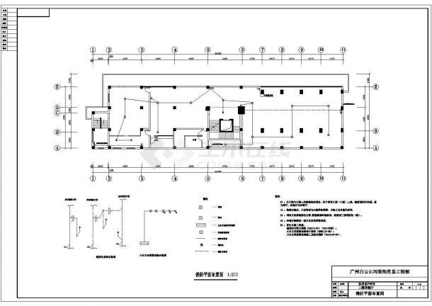 北京王府路某商务高档酒吧全套平面装修装饰设计CAD图纸-图一