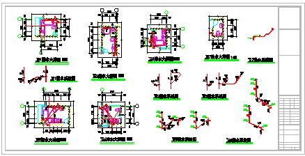 多层六层楼建筑给排水CAD施工图纸-图一