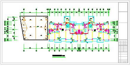 多层六层楼建筑给排水CAD施工图纸-图二