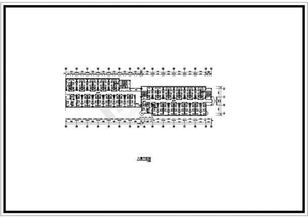 锦州市锦城路某8层框架结构三星级高档商务酒店全套平面设计CAD图纸-图一
