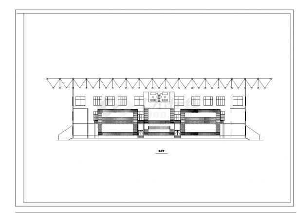 单层5千平米框架构体育馆建筑CAD设计图-图一