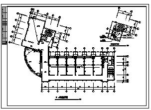 某市六层营业办公楼电气施工cad图(含照明,插座设计)-图一