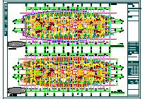 某酒店给排水平面CAD施工图纸-图二