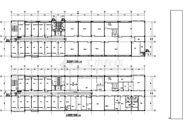 [安徽]药厂综合办公楼空调通风消防系统设计施工图(含设计说明,材料表)-图一