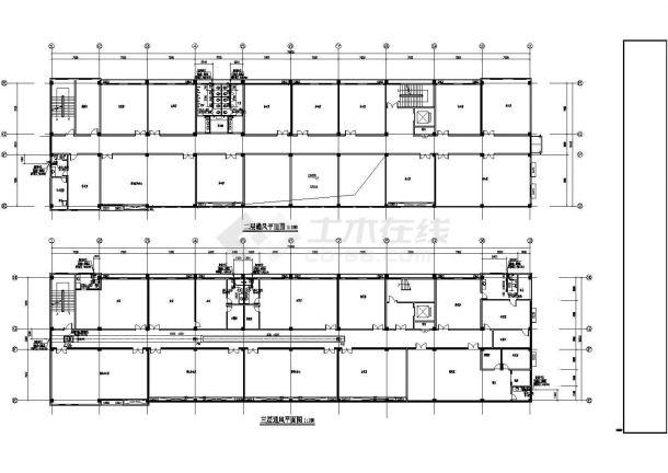 [安徽]药厂综合办公楼空调通风消防系统设计施工图(含设计说明,材料表)-图二