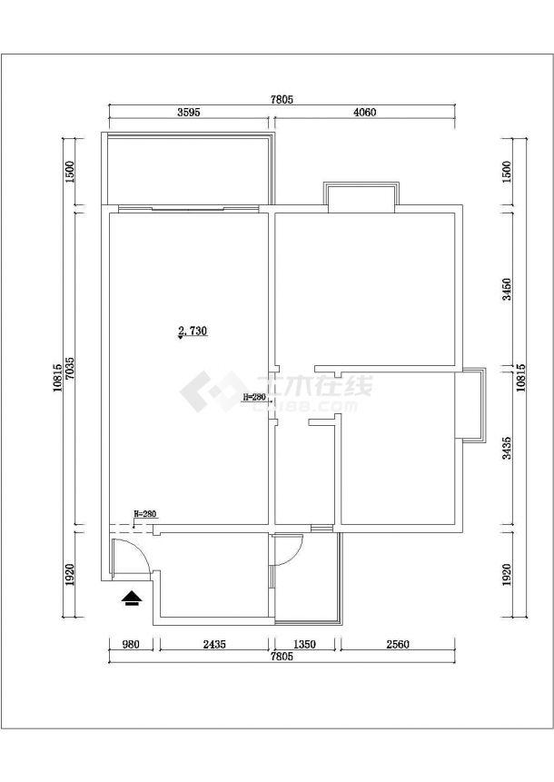 江苏省无锡市某室内豪华装修方案cad立面施工图大样图-图一