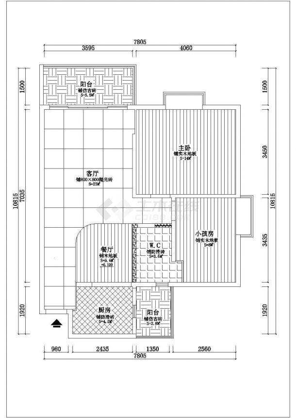 江苏省无锡市某室内豪华装修方案cad立面施工图大样图-图二