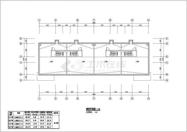 某城市叠拼别墅建筑户型设计施工CAD图纸-图一