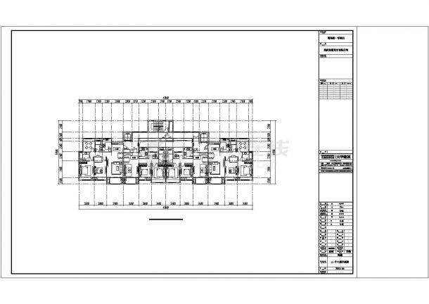 某城市类独栋高层建筑户型设计施工CAD图纸-图一