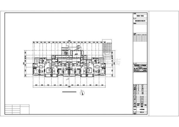 某城市类独栋高层建筑户型设计施工CAD图纸-图二