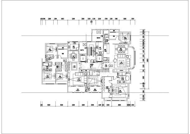 某城市小区内高层建筑户型设计施工CAD图纸-图一