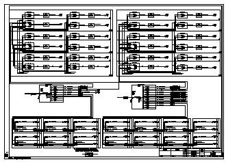 某二层门式钢架库房电气施工cad图(含消防设计)-图一