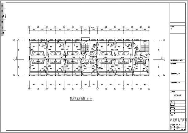 电气设计_某社区综合楼强弱电施工CAD图-图一