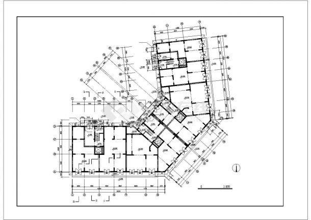 南昌市浦苑小区11层框架结构商住楼平立面设计CAD图纸(含机房层)-图一